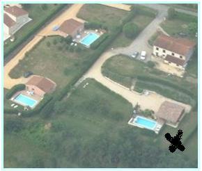 Vue aérienne des 3 gites